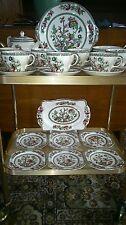 Vint JOHNSON BRO Indian Tree Afternoon Tea set C allpics avec plaques carrées