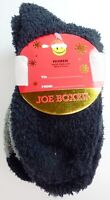 3 Pairs Joe Boxer Womens Cozy Multicolor Fuzzy Crew Socks Shoe Size 4-10 L324