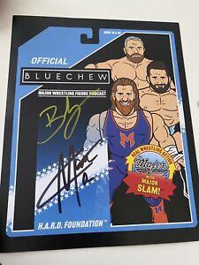 Major Wrestling Figure Podcast MWFP Blue Chew Signed 8x10 Zack Ryder Hawkins