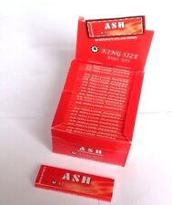 ASH RED KINGSIZE CIGARETTE ROLLING  PAPERS  50 Booklets