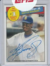 KEN GRIFFEY JR 1985 #1 DRAFT PICK SSP ON CARD AUTOGRAPH 2016 TOPPS ARCHIVES AUTO
