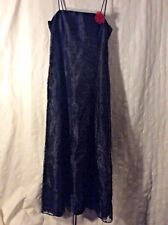 Betsy & Adam Designer Dress Black Lace Up Back SZ 6 New Excellent Condition!