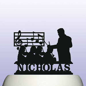 Personalised Acrylic Classical Music Conductor Orchestral Ensemble Cake Topper