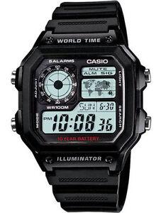 Casio AE1200WH-1AV, Chronograph Watch, Illuminator,  5 Alarms, 10 Year Battery