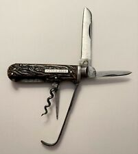 19th Century British Croisdale Horseman's Knife Marked Ferris Beer