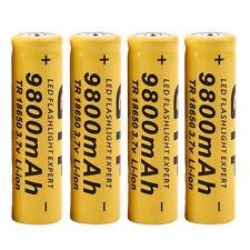 4PCS 3.7V 18650 9800mah Li-ion Rechargeable Battery For LED Flashlight Torch