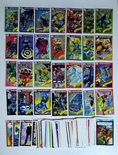 1990 Impel Marvel Comics 100 Card Partial Set | All Different, Rookies, Villains