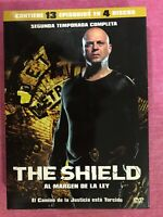 THE SHIELD SEGUNDA 2ª TEMPORADA COMPLETA SERIE TV 4 x DVD 13 EPISODIOS AM