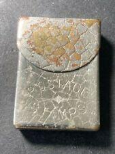 Antique matchsafe & Stamp box combination, stamp case Pat.1890
