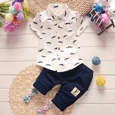 Ropa De Bebé Camiseta de manga corta de verano + Pantalones cortos Niño Trajes
