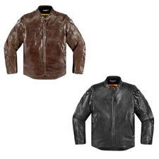 Giacche copertura in pelle con protezione rimovibile per motociclista