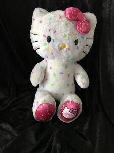 """Build A Bear Hello Kitty 40th Anniversary Plush White Confetti 17"""" Retired BAB"""