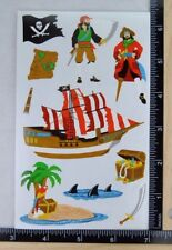 Mrs Grossman PIRATES Arrr Stickers SHIP TREASURE CHEST PIRATE JOLLY ROGER