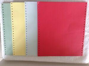 VTG Rediform COLOR Dot Matrix Printer Paper Continuous Track Feed 162 PCS 9.5x11