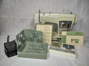 Vintage 1960s Sears Kenmore Model 1750 Sewing Machine with Pedal, Accessories
