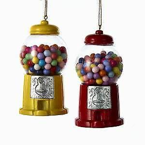 Set of 2 Gumball Machine Ornaments w