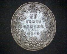 1921 CANADA 25 CENTS KM#24a -80% SILVER #14784