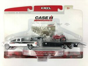 ERTL Case IH Dodge Ram 2500 Dealer Pickup Truck Trailer Farmall 100 Tractor 1/64
