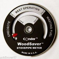 Condar WoodSaver Stove Pipe Thermometer Woodstove NIP 3-16