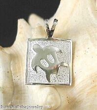 Honu Turtle Vertical Pendant #1 15mm Sold Sterling Silver Hawaiian Petroglyph