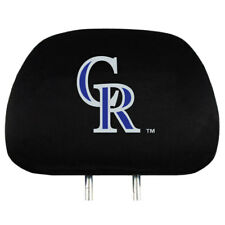 Colorado Rockies Head Rest Covers Set of Two