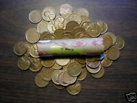 """LINCOLN WHEAT CENT ROLL mixed, all """"S"""" mints, forties & fifties"""