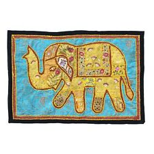 Wall Hanging Elephant Antique Hippie Hippy Embroidered Patchwork Tapestry
