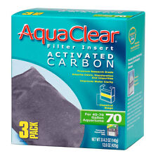 AquaClear Filter Insert ACTIVATED CARBON - 70 HAGEN  # A-1386  ( 3 PACK )