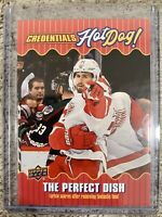 "2019-20 CREDENTIALS DYLAN LARKIN ""HOT DOG"" THE PERFECT DISH HD-5 INSERT SSP"