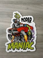 Mopar Maniac MAGNET Muscle Car Vintage Old School Performance Rat Fink