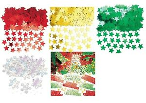 Merry Christmas Metallic STARS CONFETTI Sprinkles Scatters Table Party Deco