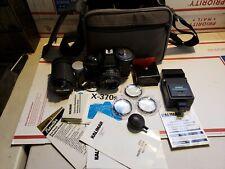 New ListingMinolta X-370S 35mm Film Camera And Accessories.