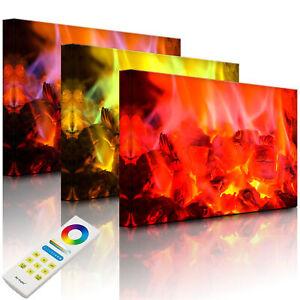 Tableau illuminé Image LED - feu de charbon