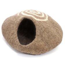 Fair Trade Hand Made Nepalese Felt Cat Kitten Cave House Sleeping Igloo Nest Bed