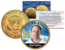 NOLAN RYAN * Baseball Legends * JFK Kennedy Half Dollar 24K Gold Plated US Coin