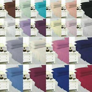 100% Poly Cotton Bed Sheets Sets ( Flat+Fitted Sheet+Pillowcase)
