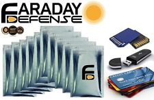 10 Premium 7.0mil Faraday Cage RFID Bags BULK LOT Credit Card, USB, SD, ID Theft