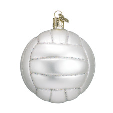 Old World Christmas Volleyball (44022)X Glass Ornament w/ Owc Box