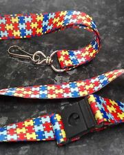 Autism Aspergers Awareness Jigsaw Puzzle Key Neck Lanyard