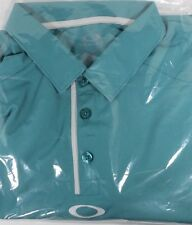 Oakley Hydrolix Regular Fit Aqua Tech Golf Polo Shirt Sz M  o2