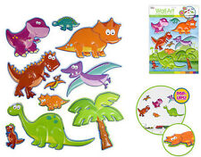 DINOSAURS 3D POP-UPS wall stickers 10 decals children's room decor T-Rex dinos