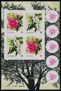 Canada 3283a Right Booklet Pane MNH Crabapple Tree, Flowers