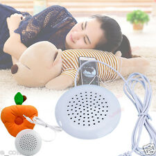 Portable 3.5mm Pillow Mini Speaker Audio For MP3 MP4 CD Player iPod Phone White