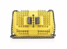 Christian Louboutin sweet charity yellow spike mimosa Shoulder  Bag Cross Body