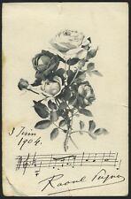 Raoul PUGNO (Composer/Pianist): Autograph Musical Quotation on a Postcard