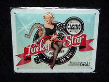 LUCKY STAR ★ Tabulous CASINO Las Vegas ★ 15 x 20 cm ★ Blechschild ★