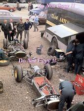 Jim Clark & Trevor Taylor Lotus 25 Paddock Area Aintree 200 1963 Photograph