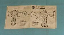 vintage instruction sheet from SHOGUN WARRIORS 5-inch diecast figures