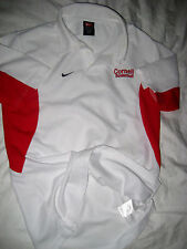 CORNELL BIG RED BASKETBALL NIKE DRI FIT EMBROIDERED LOGO JERSEY POLO SHIRT- S