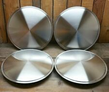 "SET OF FOUR SALT DISC HUB CAPS 15"" HOT ROD CUSTOM VTG STYLE RAT RACE CAR RACING"